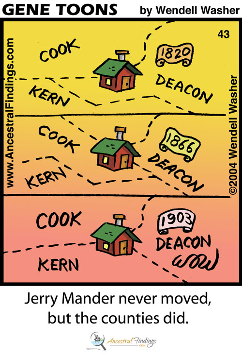 Jerry Mander Never Moved, but the Counties Did (Genetoons #43)