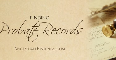 Finding Probate Records