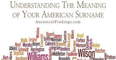Understanding The Meaning of Your American Surname