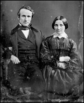 Rutherford & Lucy Hayes on their wedding day: December 30, 1852.