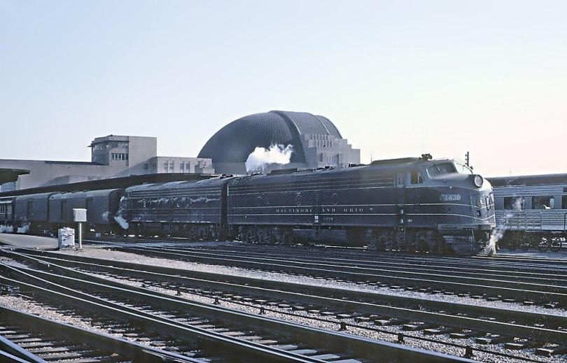 National Limited, departing Cincinnati Union Terminal on April 11, 1963.