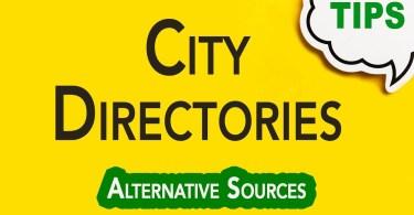 City Directories | Genealogy Clips #62