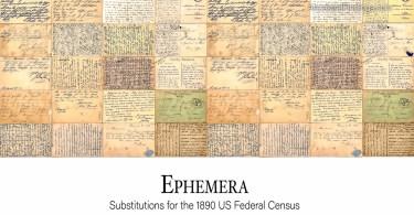 Ephemera: Substitutes for the 1890 US Federal Census