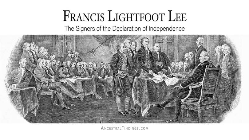 Francis Lightfoot Lee: The Signers of the Declaration of Independence