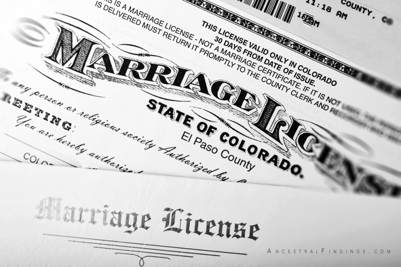 A Closer Look at Marriage Records #2