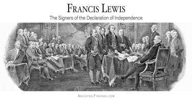 Francis Lewis: The Signers of the Declaration of Independence