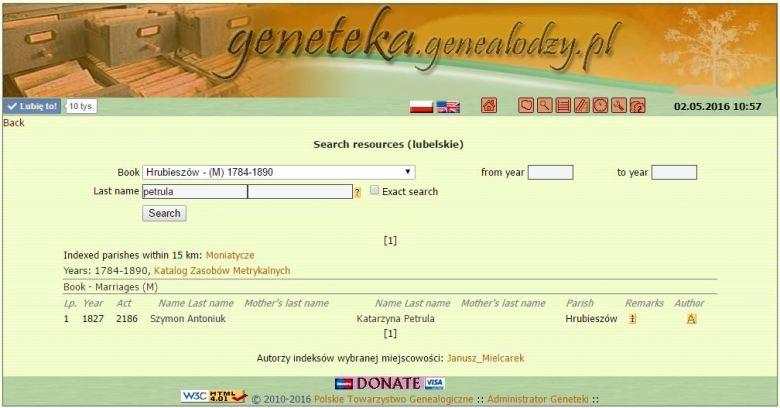 Geneteka - in memory of Janusz Mielcarek
