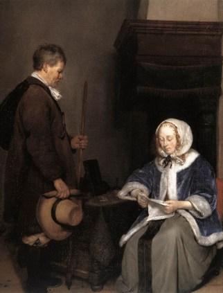 Mujer leyendo una carta