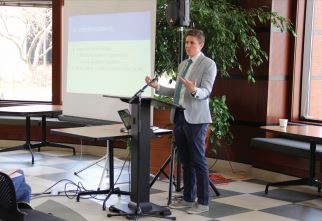 ACCESSIBLE FOR ALL — Lee West ('10) presented on the climate Hope College presents to transgenders.
