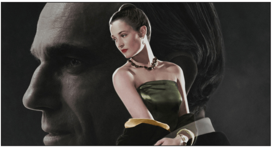 AN ARTIST AND HIS MUSE — Reynolds Woodcock (Daniel Day-Lewis) and Alma (Vicky Krieps) discover desire in a fashionable world.