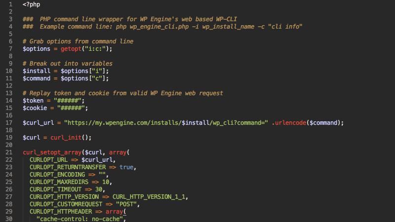 Hacking WP Engine's web based WP-CLI