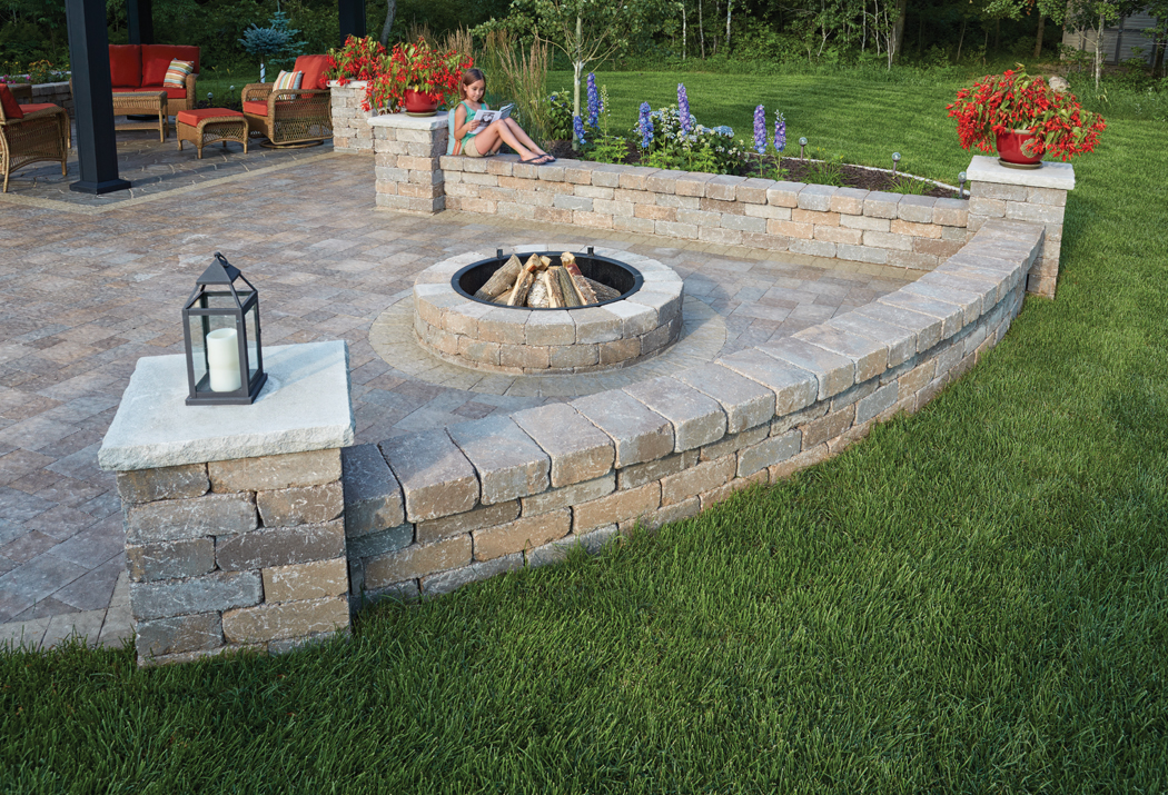 Retaining Walls | Anchor Block Company on Patio Stone Wall Ideas  id=52094