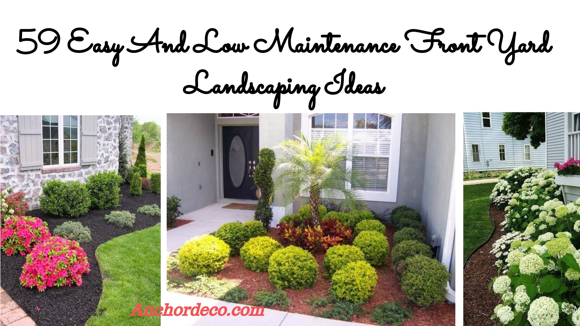 59 Easy And Low Maintenance Front Yard Landscaping Ideas ... on Low Maintenance:cyizg0Gje0G= Backyard Designs  id=44513