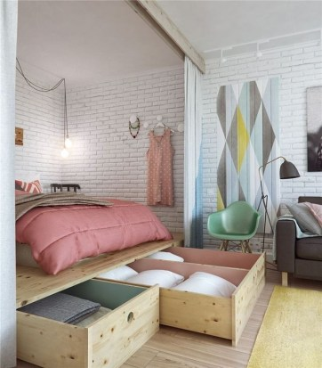 Amazing Ideas Decorating Studio Apartment 23