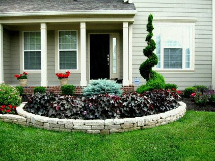 Beautiful Flower Garden for Your Front Yard 11