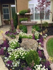 Beautiful Flower Garden for Your Front Yard 16