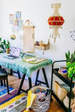 Bohemian Office Decor Inspiration 45