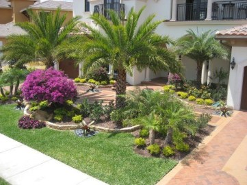 Clever & Beautiful Yard Island Landscaping for Backyard and Front yard 01