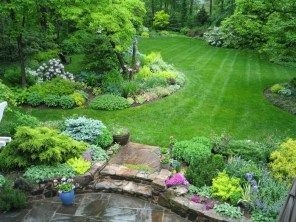 Clever & Beautiful Yard Island Landscaping for Backyard and Front yard 09