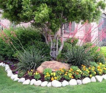 Clever & Beautiful Yard Island Landscaping for Backyard and Front yard 10