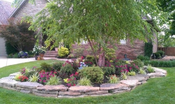 Clever & Beautiful Yard Island Landscaping for Backyard and Front yard 14