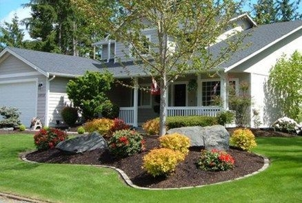 Clever & Beautiful Yard Island Landscaping for Backyard and Front yard 15