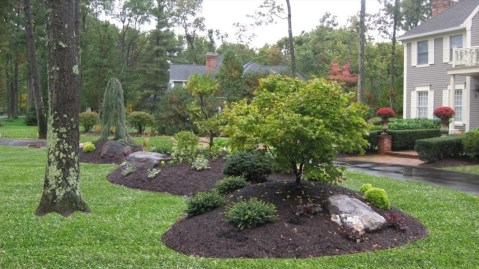 Clever & Beautiful Yard Island Landscaping for Backyard and Front yard 27