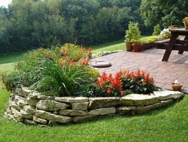 Clever & Beautiful Yard Island Landscaping for Backyard and Front yard 45