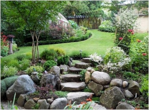 Clever & Beautiful Yard Island Landscaping for Backyard and Front yard 51
