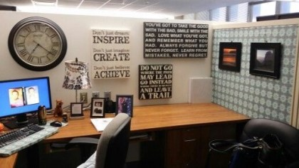 Cubicle Workspace Decorating Ideas 01