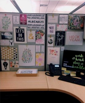 Cubicle Workspace Decorating Ideas 39