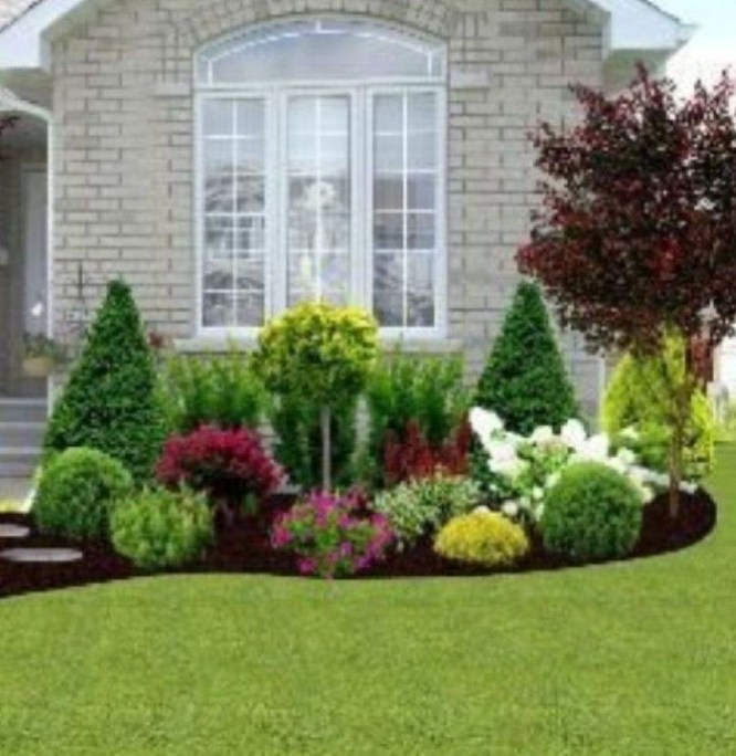 Simple But Beautiful Front Yard Landscaping Ideas 54