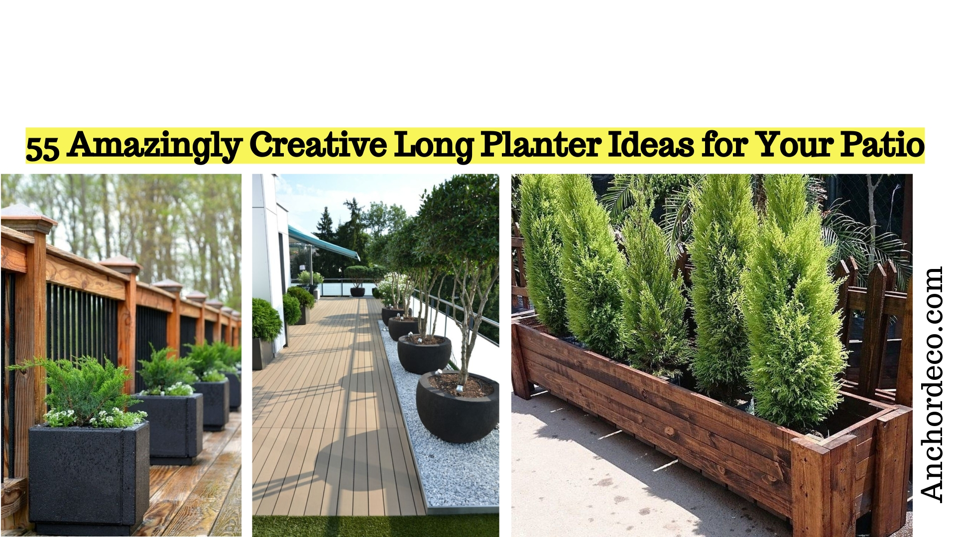 55 Amazingly Creative Long Planter Ideas for Your Patio ... on Long Patio Ideas id=40417