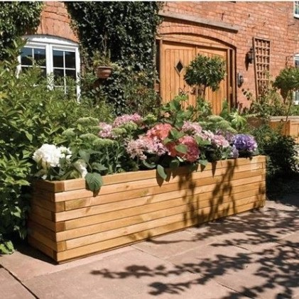 Amazingly Creative Long Planter Ideas for Your Patio 23