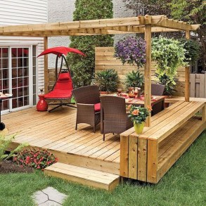 Awesome Backyard Patio Deck Design and Decor Ideas 10