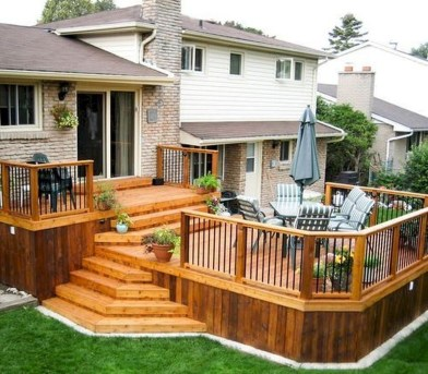 Awesome Backyard Patio Deck Design and Decor Ideas 17