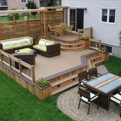 Awesome Backyard Patio Deck Design and Decor Ideas 18