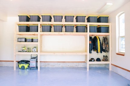 Best DIY Garage Storage with Rack 02