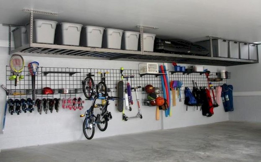 Best DIY Garage Storage with Rack 04