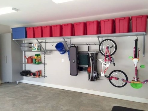 Best DIY Garage Storage with Rack 06
