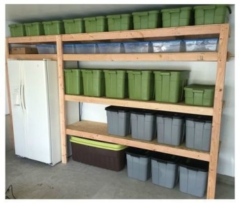 Best DIY Garage Storage with Rack 19
