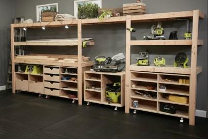 Best DIY Garage Storage with Rack 57