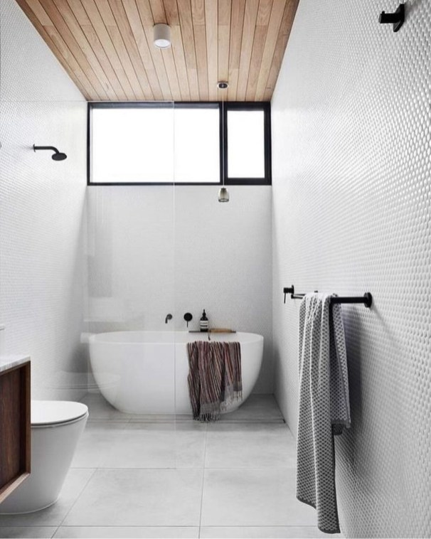 Cool Minimalist Bathroom to Add to Your Dream Home Decor 13