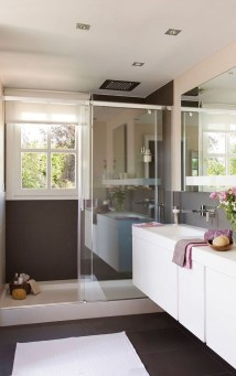 Cool Minimalist Bathroom to Add to Your Dream Home Decor 33