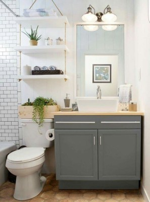 Cool Minimalist Bathroom to Add to Your Dream Home Decor 42
