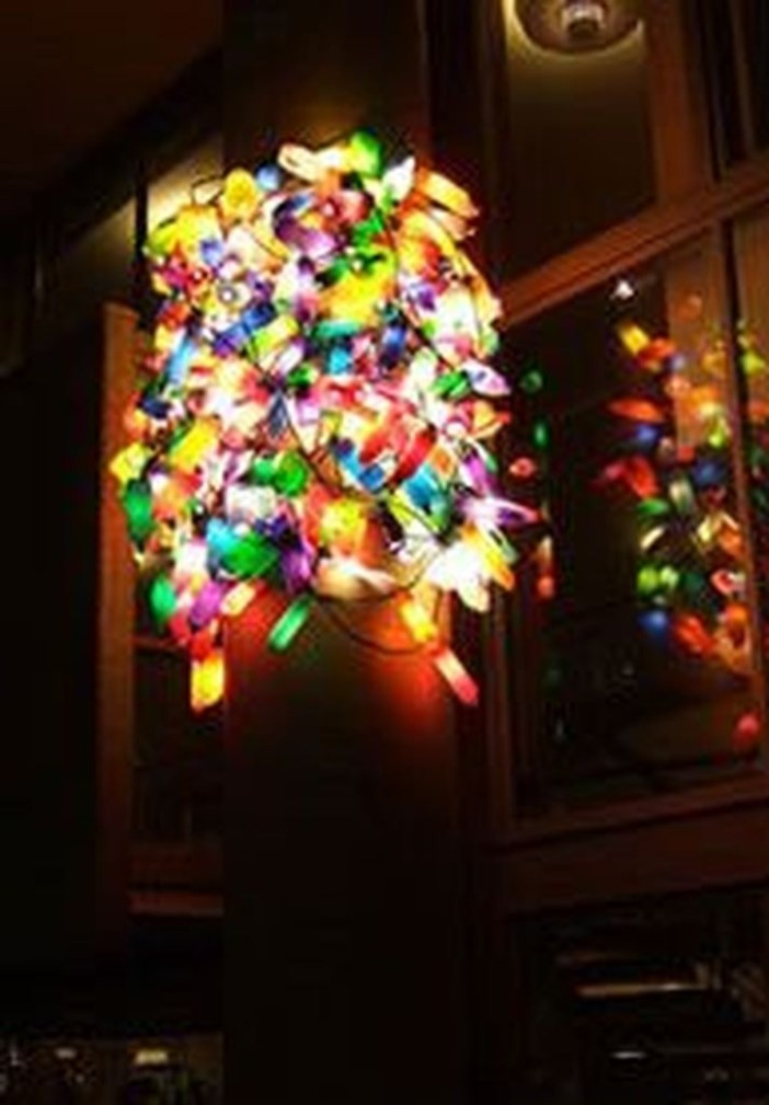 Recycled and Reuse Empty Plastic Bottles Into a String of Lights Ideas 01