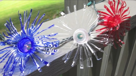Recycled and Reuse Empty Plastic Bottles Into a String of Lights Ideas 08