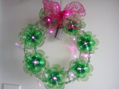 Recycled and Reuse Empty Plastic Bottles Into a String of Lights Ideas 09