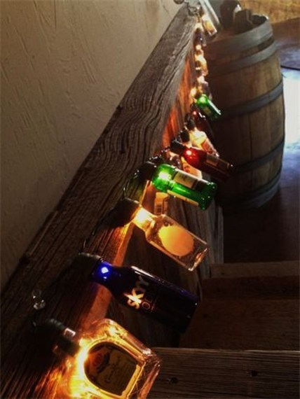 Recycled and Reuse Empty Plastic Bottles Into a String of Lights Ideas 17