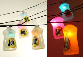Recycled and Reuse Empty Plastic Bottles Into a String of Lights Ideas 19